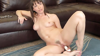 The Trimmed Puss Of Dana DeArmond Was Longing For This Sex Toy And She Gives A Stunning Performance