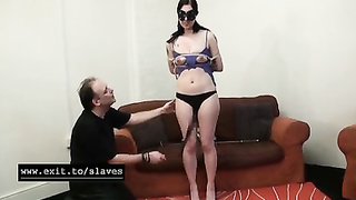 Cruel bondage waxing and whipping