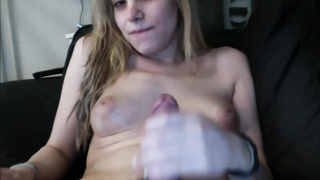 Charming Young Shemale Teenager Jerking It