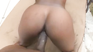 Big breasted ebony chick hardfucked