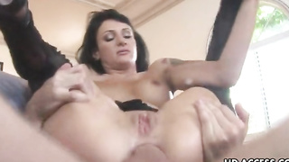 Victoria Sinn sucks cock and is anally fucked