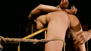 Lusty slave chick is tortured