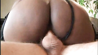Hot ebony maid fucked from boss