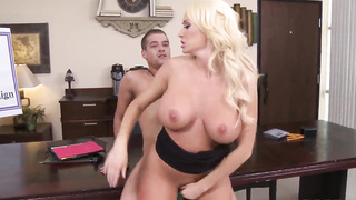 Awesome and hot blonde Summer Brielle kitty violated