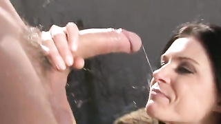 Dirty Brunet Likes Stunning Sex Outdoors