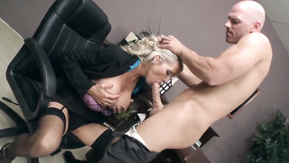 Epic sex time at duty with Emma and Johnny Sins Having Some Hardcore Fun