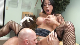 Johnny Sins delves her tight pussy really nicely