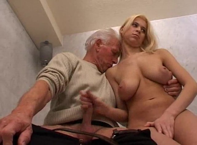 Hot Blond Babe Teen And Old Man  Alotporncom-7905