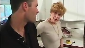 Sexy mama gets fucked hard in the kitchen